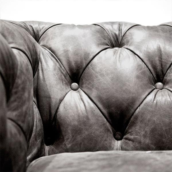 Eleonora fauteuil Chesterfield Antraciet